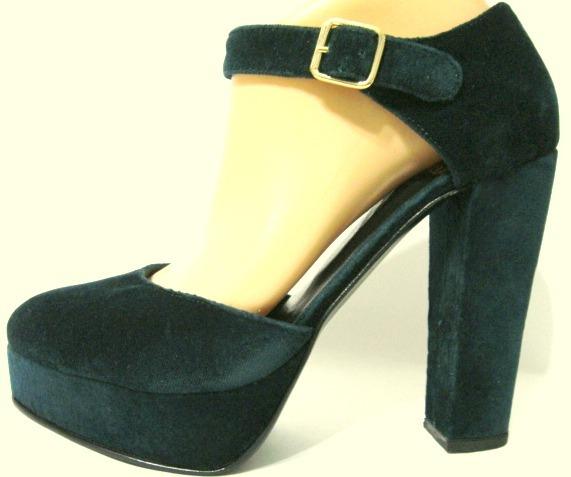 ana 39 36 37 zapatos maria verde de cuero terciopelo 40 EwqzIxxn7