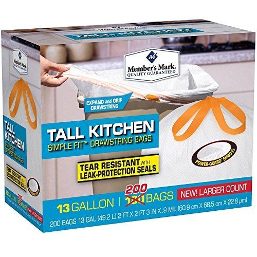 de miembros marcar tall cocina simple ajuste bolsos de lazo