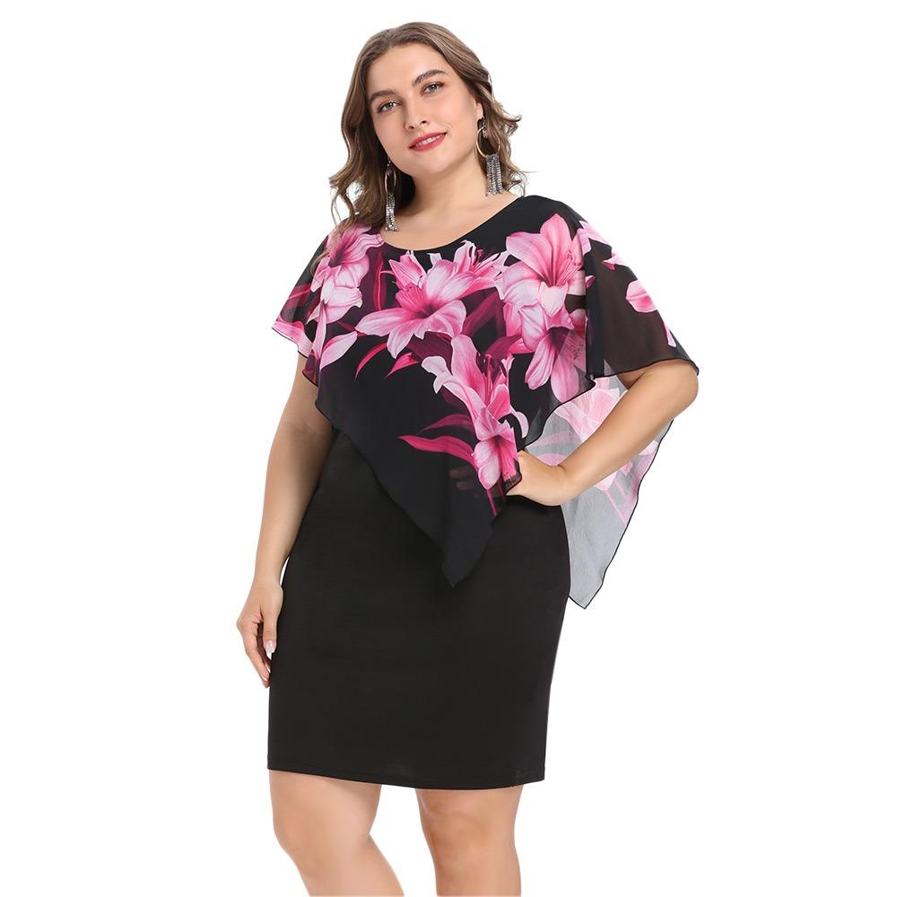 59a1d4f3a6 de moda ronda collar floral capas mujeres bodycon vestido. Cargando zoom.