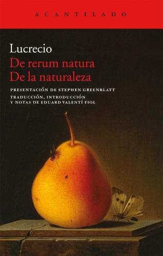 de rerum natura de la naturaleza de lucrecio