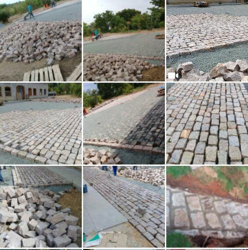 de rocha pavimentação
