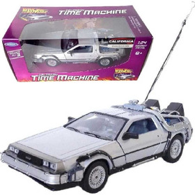De Volta Para O Futuro Back The Future 1 Delorean Welly 1/24