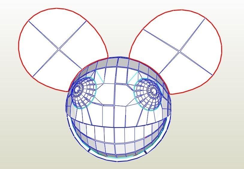 Deadmau5 Mascara - Plantillas - Arte En Papel - $ 95,00 en Mercado Libre