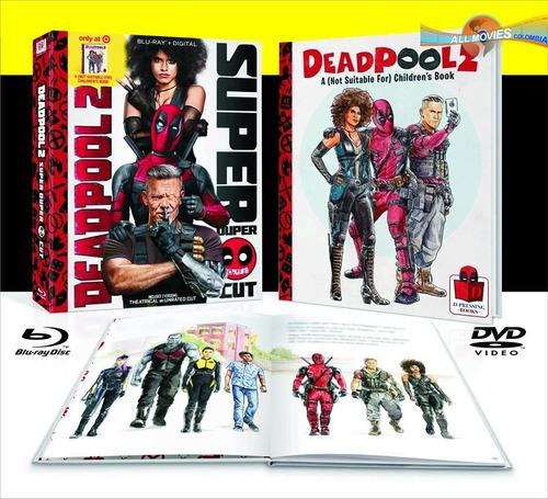 deadpool 2 (2018) blu-ray + hd ed. limitada + book