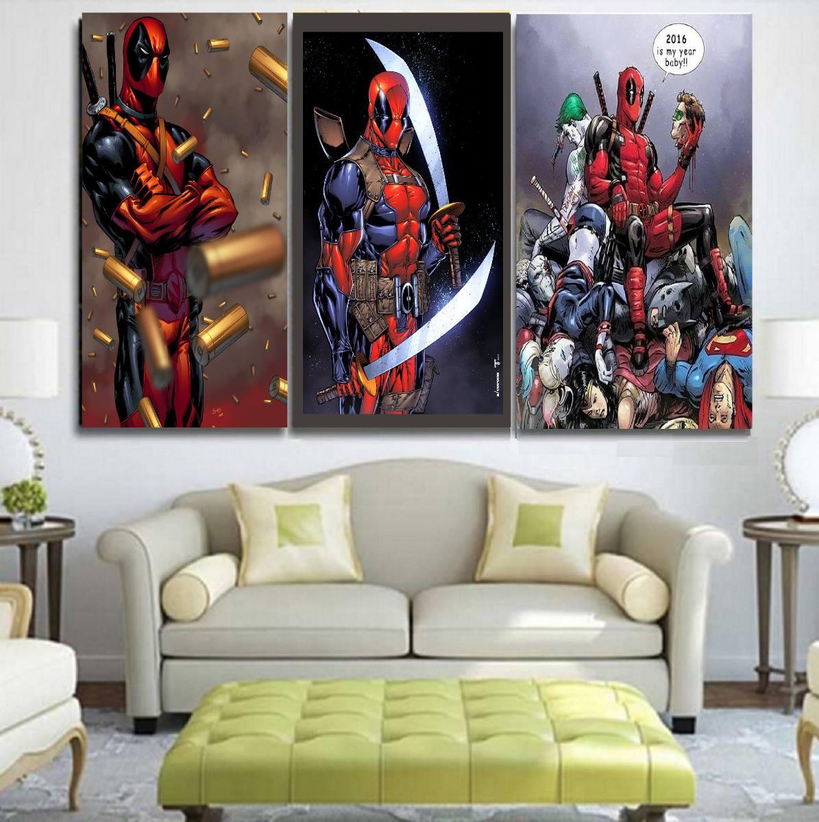 Deadpool cuadros habitacion sala fotos etc s 30 00 en mercado libre - Cuadros de habitacion ...