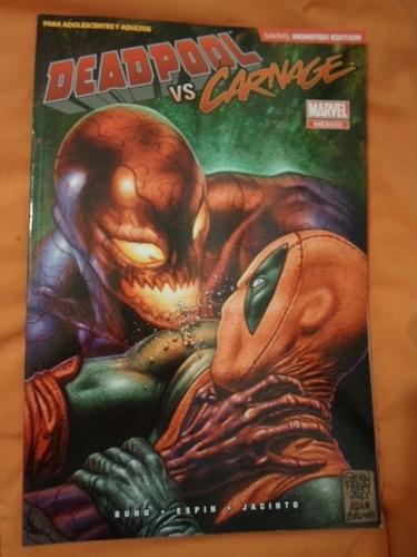 deadpool vs carnage marvel now comics tomo compilatorio