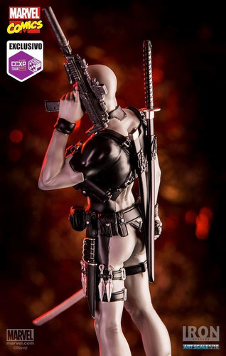 deadpool x-force 1/10 exclusivo ccxp tour 2017 iron studios
