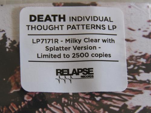 death individual thought patterns lp edição limitada 2500