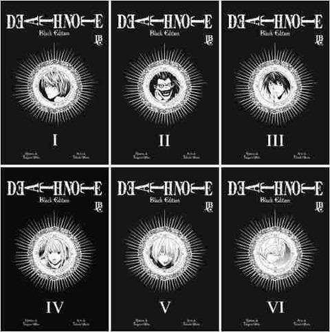 death note black series jbc coleção completa lacrado 1 ao 6