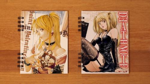 death note cuaderno anime kira l ryuk misa tamaño carta