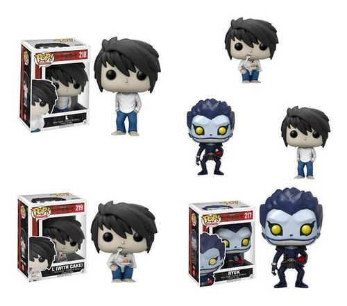 death note funko pop ryuk l light yagami