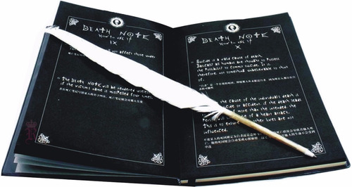 death note libreta +pluma+cd+ collar+afiche+boton ajd