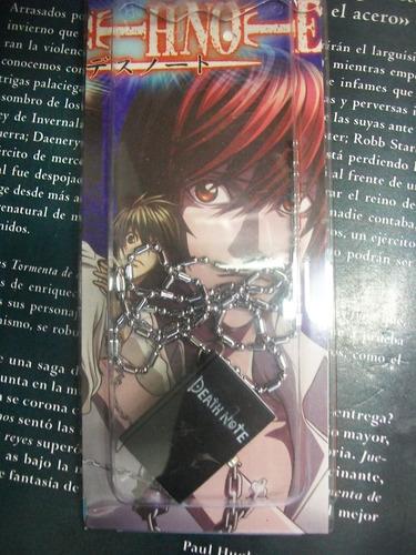 death note libreta reloj colgante manga anime