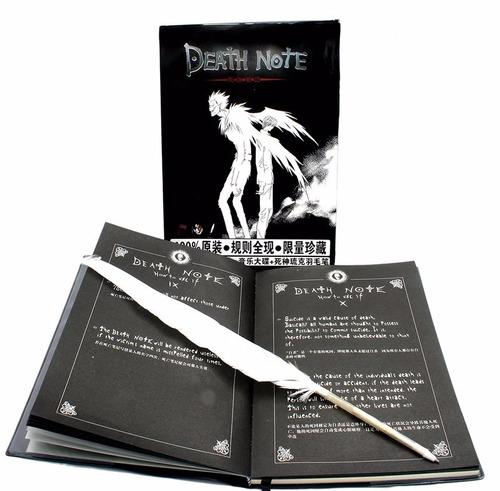 death note + pluma libro de la muerte importado alta calidad