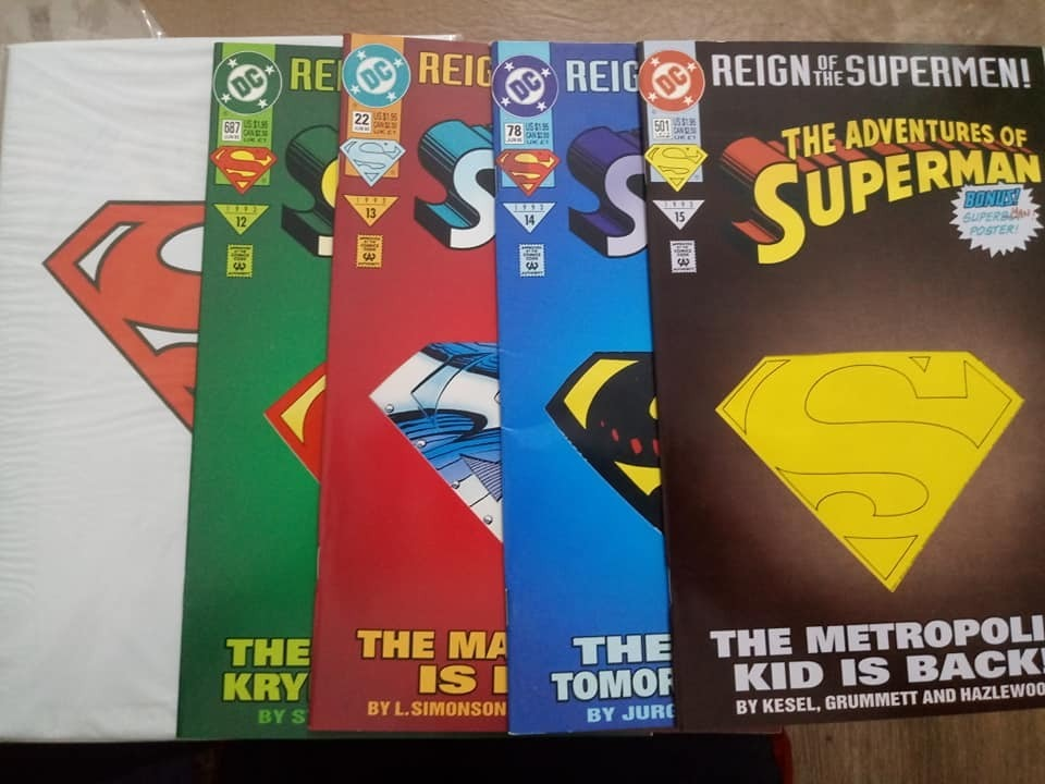 Death Of Superman (s75) Y Reign Of Supermen - $ 1 500,00