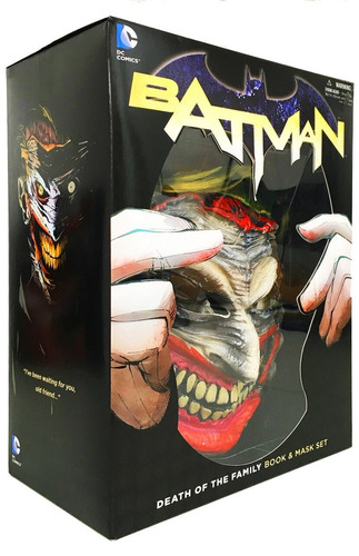 death of the family batman book & mask set máscara joker