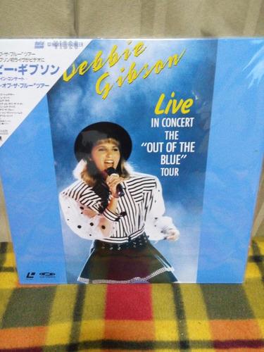 debbie gibson in live - laserdisc raro + obi