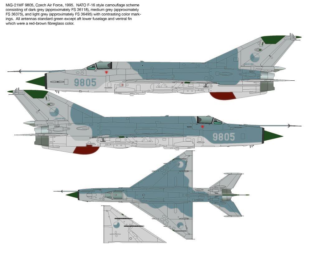 Decais Kopro 1/72 Mig-21 Mf Eslováquia Iraque Urss Alemanha
