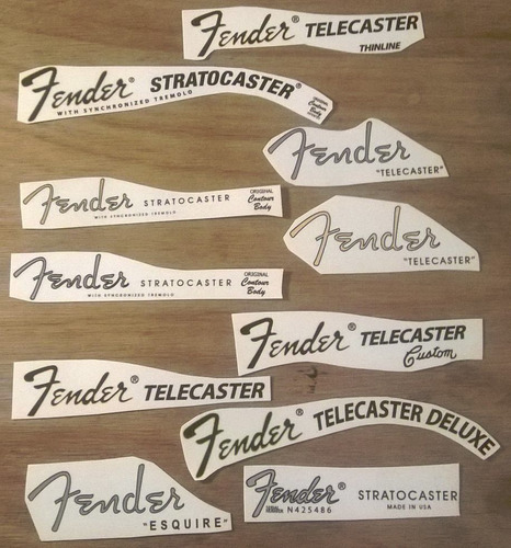 decal fender stratocaster telecaster jazz bass precision