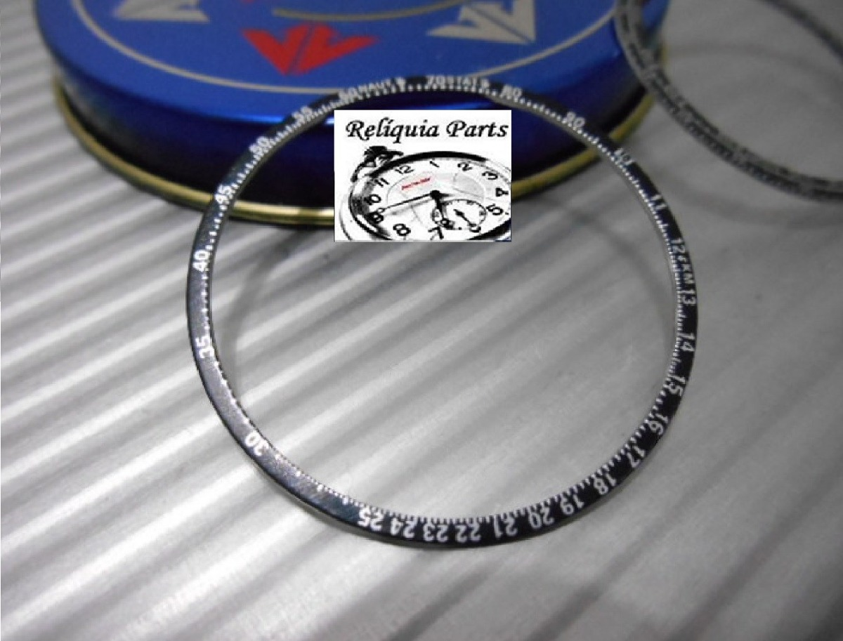 2cbeea1e0c1 Decalque Aro Citizen Wingman 8945 Bezel Duplo Série Prata - R  39