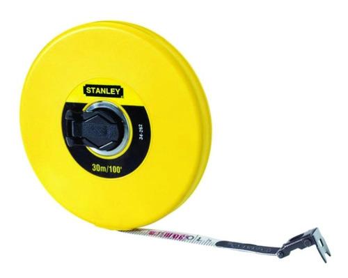 decametro - cinta larga fibra de vidrio 1/2`x 15m stanley 34