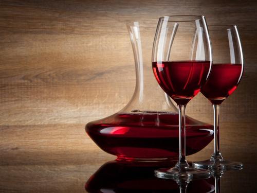 decantador de vino 1 lts vidrio artesanal ecologico