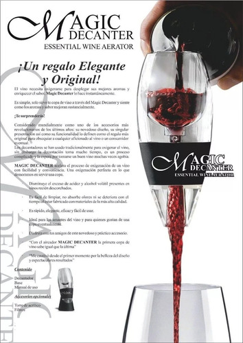 decantador de vino magic decanter
