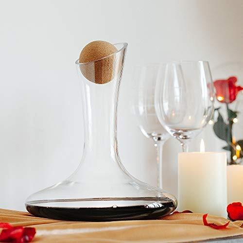 decantador de vino y soporte de secado con caja de regalo