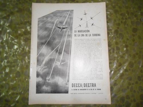 decca dectra navigator turbin avion aviacion publicidad 1959