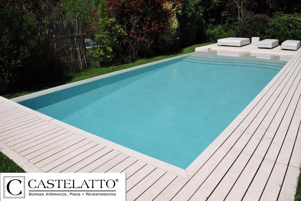 Deck atermico para pileta piscinas 245x12 castelatto for Piletas de concreto
