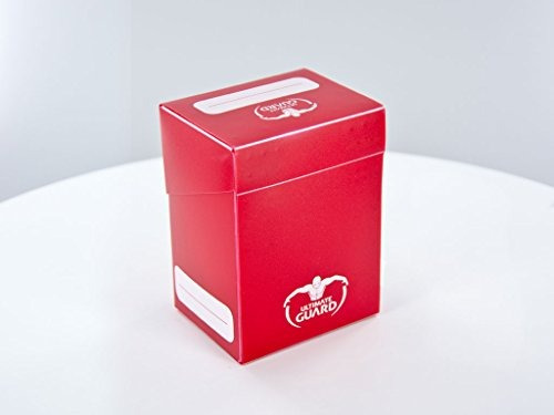 deck box 80 cards red
