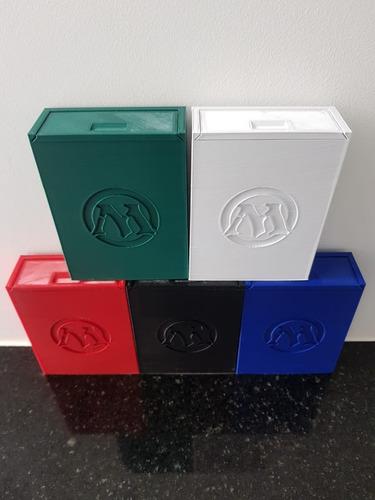 deck box mtg boulder 60 cards com simbolo e tampa