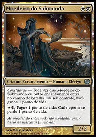 deck commander azul, branco e preto -  zur, o encantador