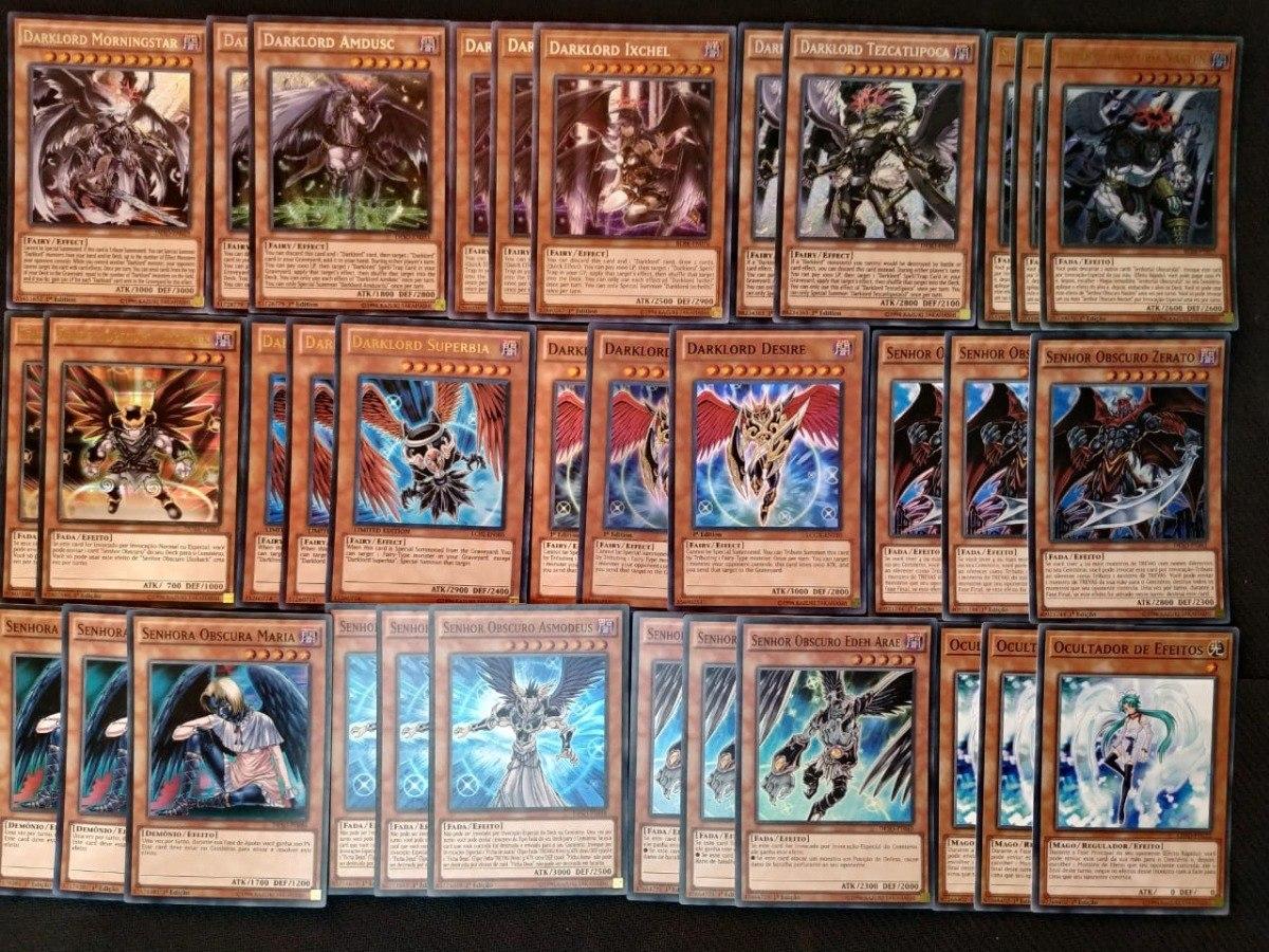Deck Darklord / Set Senhor Obscuro Yugioh! Konami!