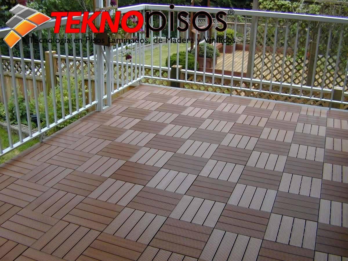 Deck de bamboo pvc para exteriores terrazas patios for Pisos de piedra para terrazas