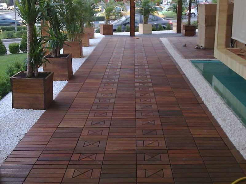 Deck de madeira modular cumaru 30 x 30 r 18 99 em for Modular decks