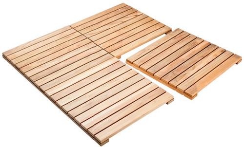 deck de madeira teca maciça - 50 cm x 50 cm x 3,5 cm