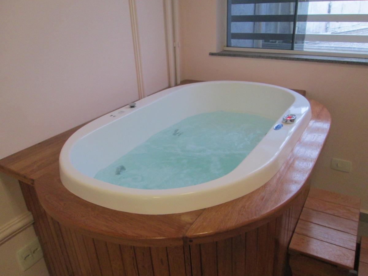 #3F271C Deck De Madeira para Spa E Ofuro. R$ 410 00 em Mercado Livre 1200x900 px Banheiro Ofuro 2701