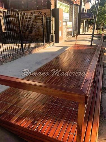 deck de madera (3 - 4 pulgadas) - venta x m²