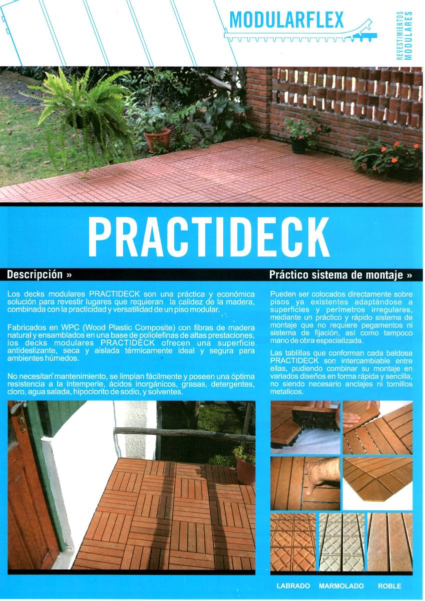 Deck de madera y resina para patios terrazas piscinas for Precios de pisos para exteriores