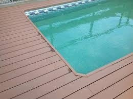 deck de pvc madera plastica cubierta para bordes de piscinas - Bordes De Piscinas