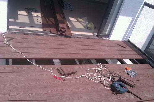 deck de pvc wpc  exterior libre de mantenimiento barato