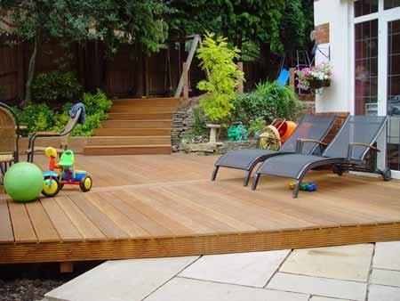 Deck exterior de madera de cumar en mercado libre - Suelos para alrededor de piscinas ...