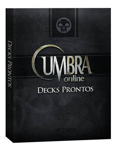 deck iniciante de magic preto - em português com 2 raros