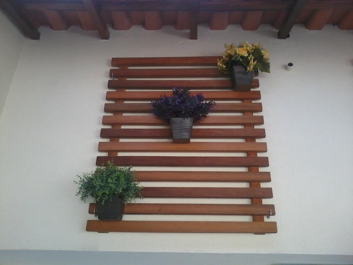 Deck Jardim Vertical Floreira Suspensa Em Madeira
