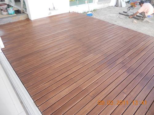 Deck madera para exterior en mercado libre for Pisos de exterior