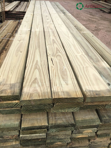deck pino cca - 1,5x6 - tablas tratadas - arazati maderas