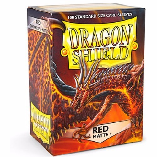 deck protector - dragon shield - red matte - standard