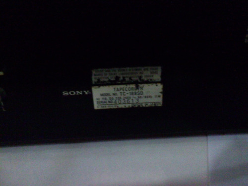deck sony para casette  tc188sd