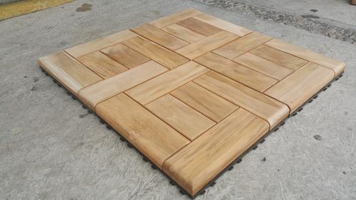 deck tile piso modular  teca  exterior sin protector hm5